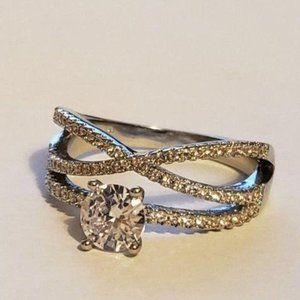 Infinity Wedding Crossover ring Woman Size 7